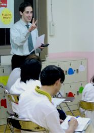 One of EFL's Instructors teaching in Japan